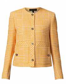 Beran Yellow and White Houndstooth Jacket