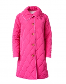 Raspberry and Pale Pink Quilted Coat