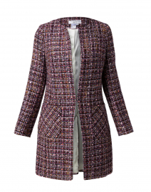 Edge to Edge Navy and Purple Tweed Jacket