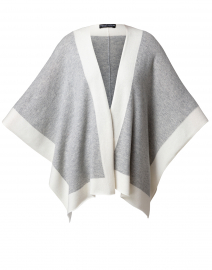 Grey and White Cashmere Travel Wrap