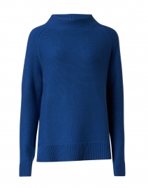 Royal Blue Garter Stitch Cotton Sweater