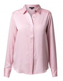 Pink Stretch Silk Blouse
