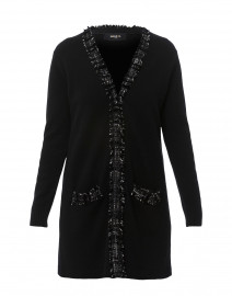 Black Wool and Cashmere Cardigan