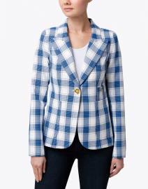 Smythe - Duchess Blue and White Check Blazer