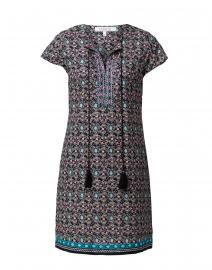 Brett Black Embroidered Cotton Dress