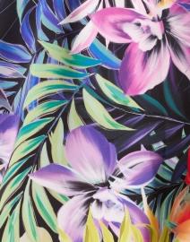 Kobi Halperin - Emma Purple Garden Printed Satin Blouse