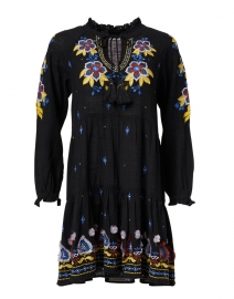 Janni Black, Yellow and Blue Fleur Nouveau Cotton Dress