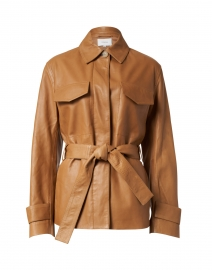 Camel Leather Safari Jacket