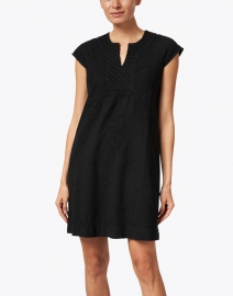 Roller Rabbit - Faith Black Embroidered Cotton Dress
