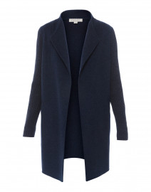 Navy Wool Cashmere Coat