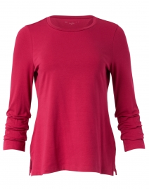 Garnet Pima Cotton Ruched Sleeve Top