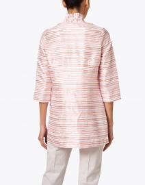 Connie Roberson - Rita Coral Metallic Stripe Silk Jacket