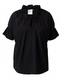 Crosby Black Silky Poplin Top