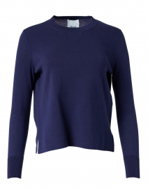 Navy Silk and Cotton Sweater