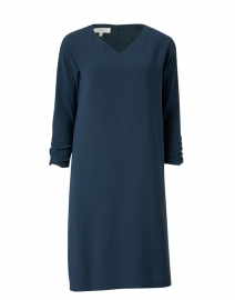 Carlie Navy Crepe Dress