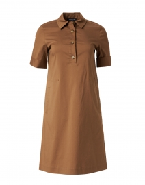 Conroy Acorn Brown Stretch Cotton Dress