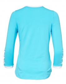 E.L.I. - Caribbean Blue Stretch Pima Cotton Top