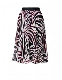 Ryma Zebra Printed Plisse Skirt