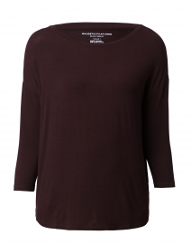 Aubergine Extrafine Boatneck Top