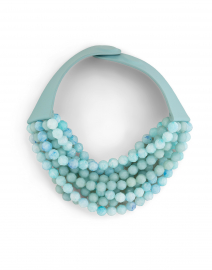 Bella Aqua Tone Multistrand Necklace