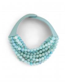 Bella Aqua Tone Multistrand Necklace