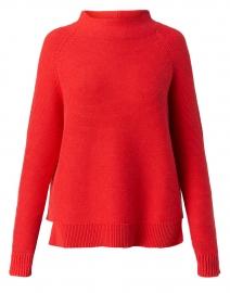 Valencia Orange Garter Stitch Cotton Sweater