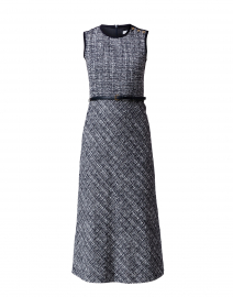Spadino Navy Tweed Midi Dress