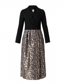 Akiima Black Jersey and Leopard Jacquard Dress
