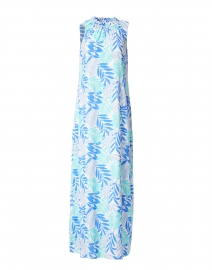 Blue Palm Printed Dress