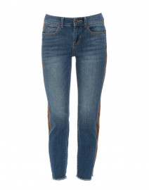 Kinney Vintage Light Wash Jean with Suede Insert