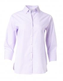 Margot Lilac and White Stripe Cotton Shirt