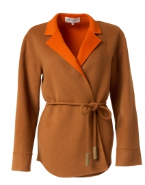 Lawson Clay and Ember Orange Reversible Wool Cashmere Jacket