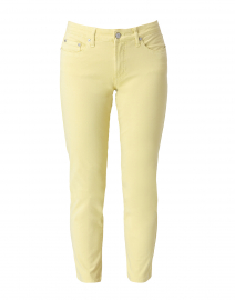 Pear Green Tapered Straight Leg Stretch Cotton Jean
