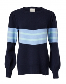 Navy Striped Wool Sweater