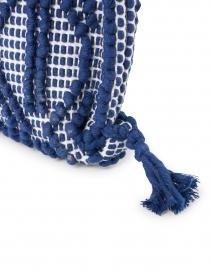 Casa Isota - Camilla Navy Geo Woven Cotton Shoulder Bag