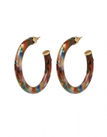 Multicolored Resin Hoop Earrings