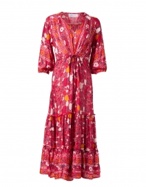 Carrie Cherry Red Printed Midi Dress