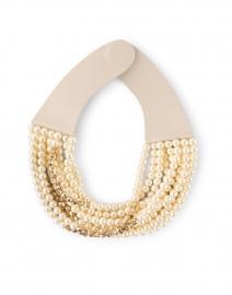 Mini Bella Pearl and Gold Multistrand Necklace