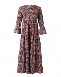 Multicolor Floral Printed Cotton Dress