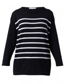 Capri Navy and White Striped Cotton Tunic Sweater