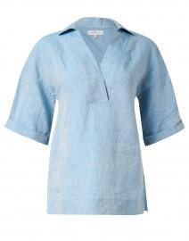 Pippen Blue Linen Blouse