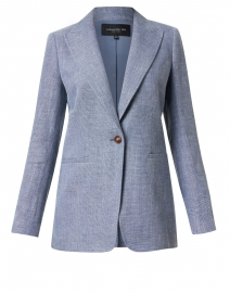 Hurley Blue Linen and Wool Blazer