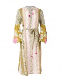 Tatiana Golden Yellow Floral Cotton Voile Dress