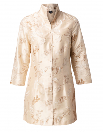 Rita Champagne Embroidered Silk Jacket