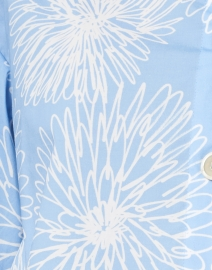 Piazza Sempione - Sky Blue and White Floral Stretch Cotton Shirt