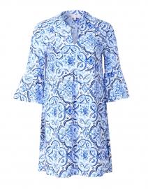 Kerry Blue Tile Print Dress
