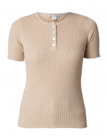 Shore Beige Ribbed Cotton Top