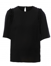 Coleen Black Silk Blouse