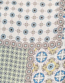 Caliban - Blue Paisley Printed Silk Top