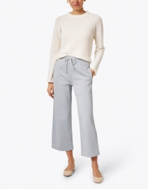 Vince - Slate Blue Grey Cotton French Terry Cropped Pant